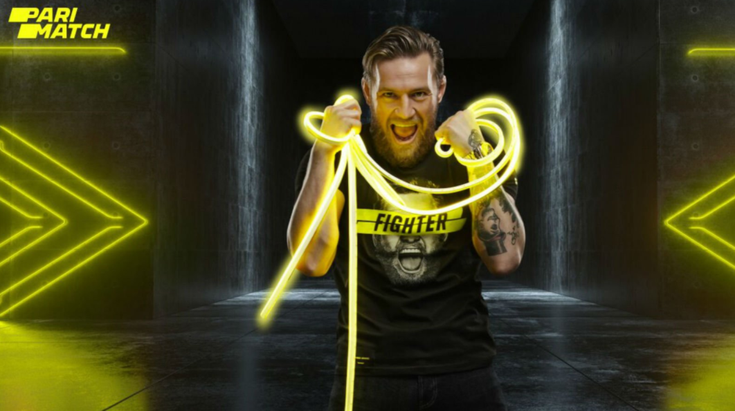 Conor Mcgregor holding a neon rope