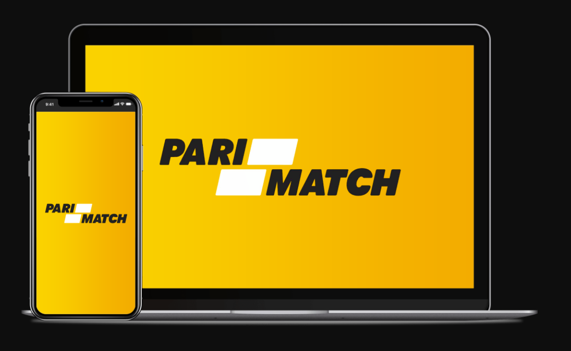 A phone and a laptop with PariMatch logo on the screens