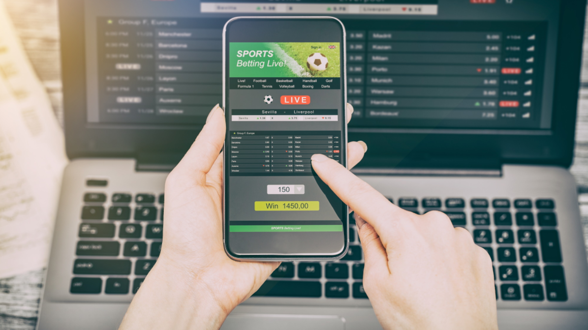 Betting from phone and laptop